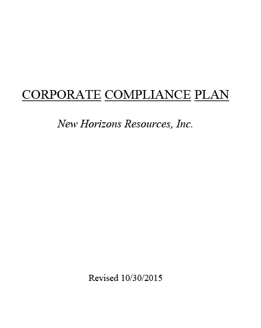 Corporate Compliance Plan